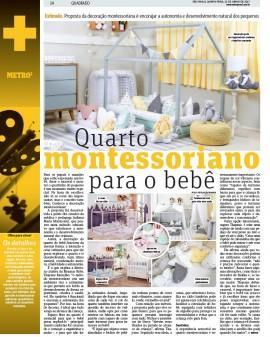 Metro Jornal destaca nosso Quartinho Montessoriano com uma entrevista exclusiva de nossa Diretora Criativa Thayane Ramalho.