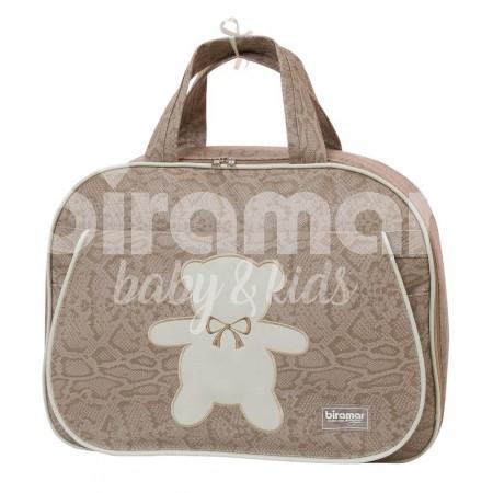 331790b11 Mala Maternidade para Bebê Animal Print Theodore Bege - Biramar Baby ...