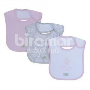 Trio boquinhas felpa para beb venetia cinza rosa - Felpa porta bebe ...